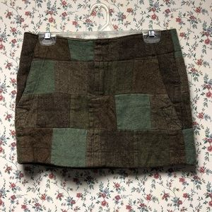 American Eagle wool patchwork skirt